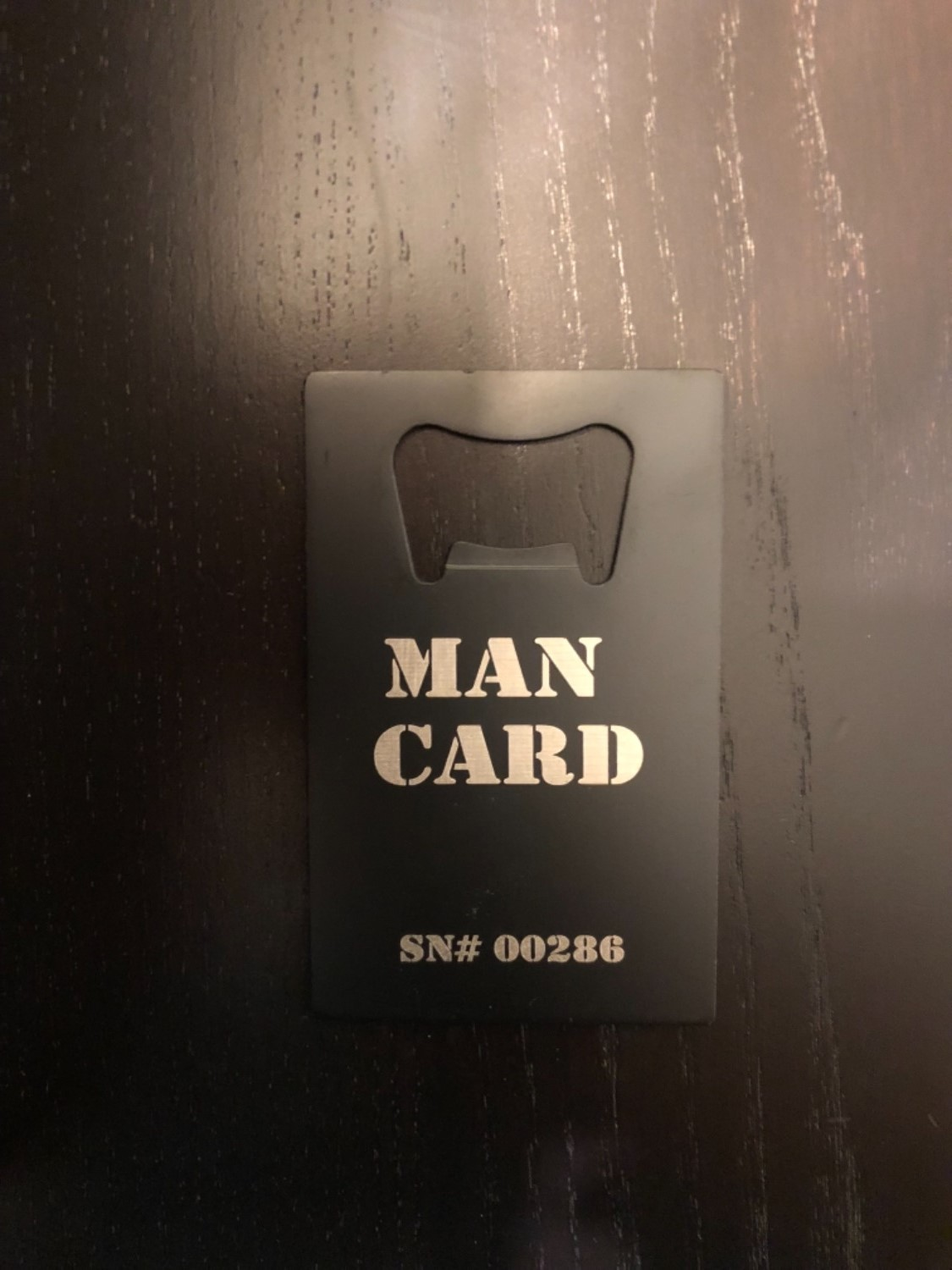 The Official MAN CARD (Beer Bottle Opener) » Manly Man Co®