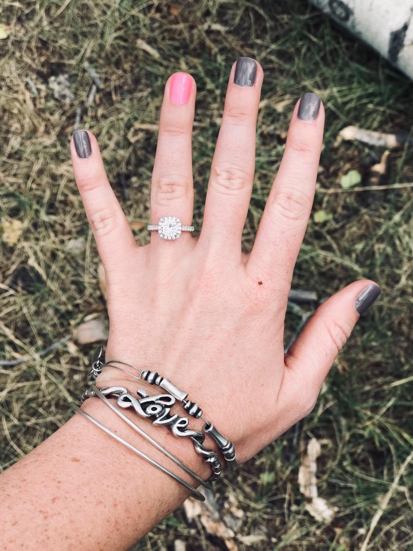 Cushion Halo Engagement Ring Set | Half Eternity Wedding Band ...