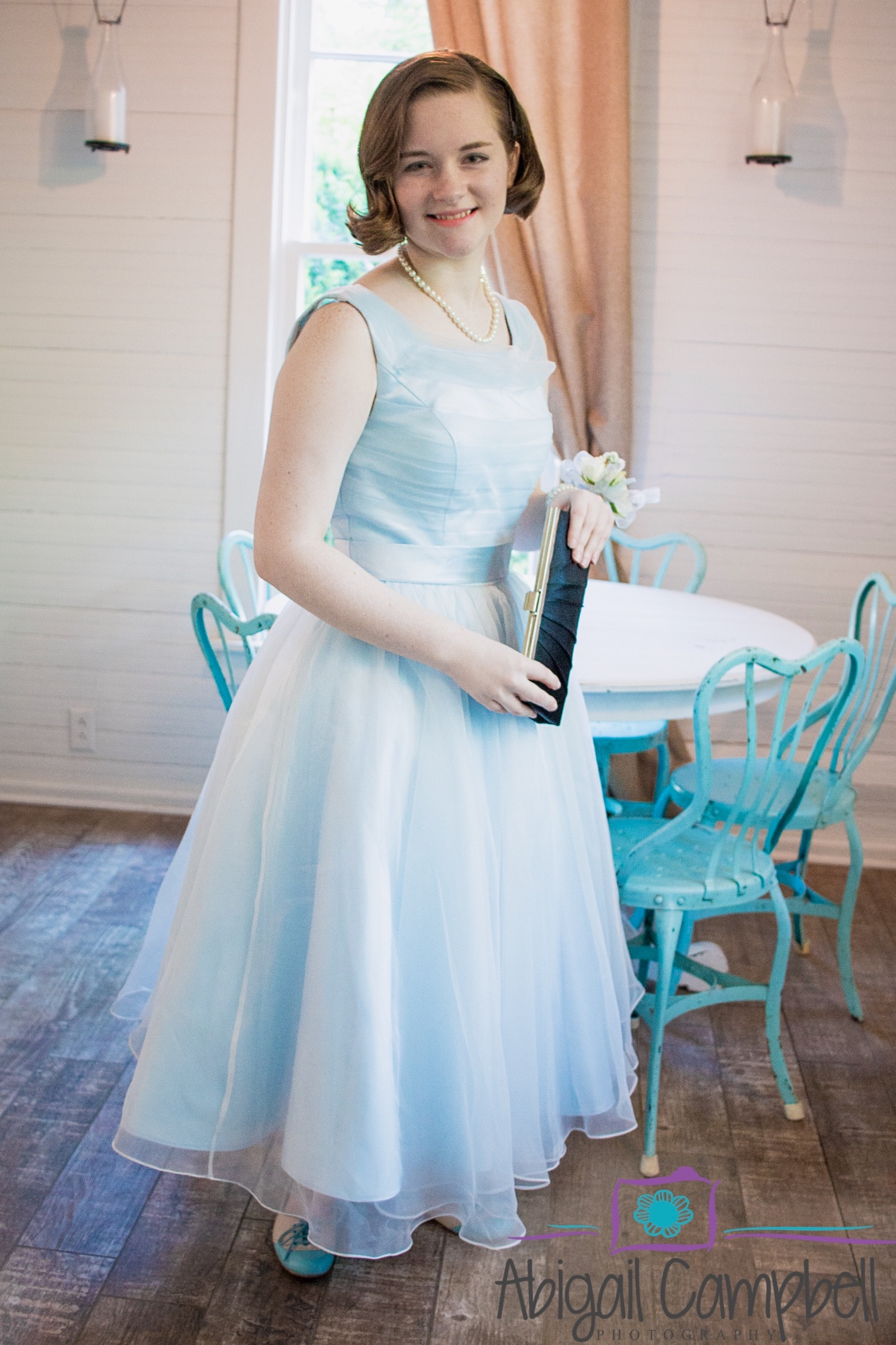 Ice Blue Short Tea Length Wedding Dress Formal Dress | Terry | ieie ...