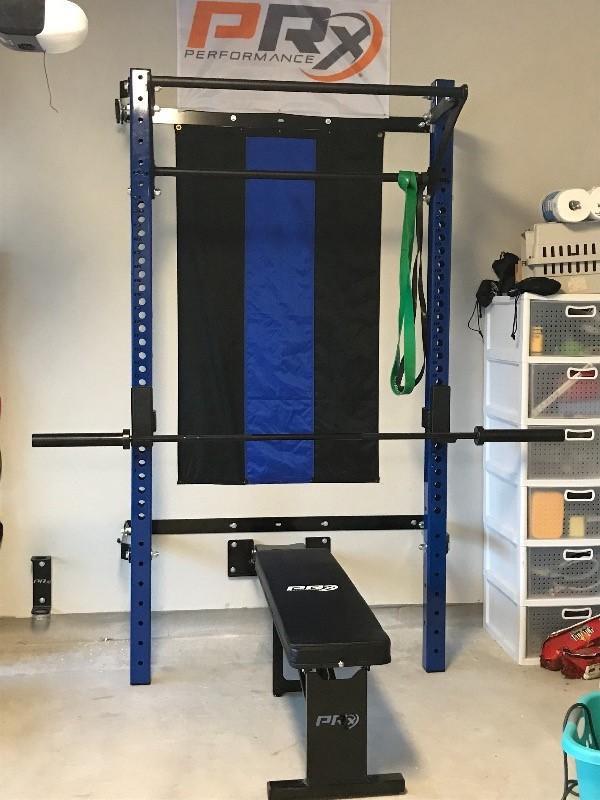 Profile pro folding squat rack with kipping bar™ prx