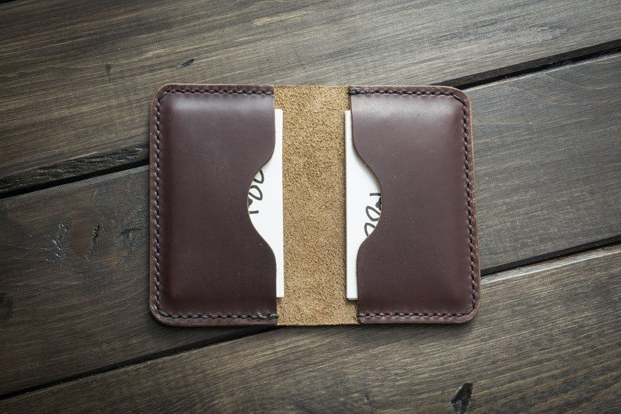 Chocolate Leather Business Card Holder – Popov Leather