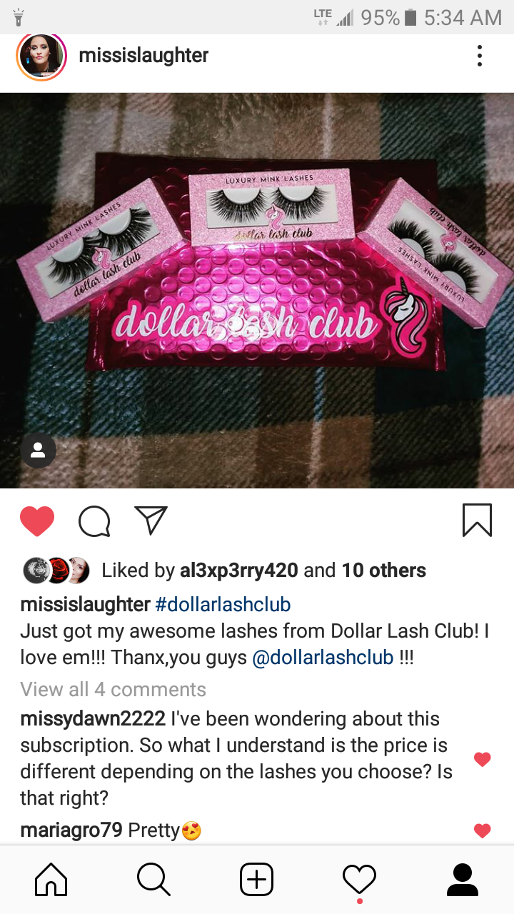 9b025fcb703 I cannot believe these eyelashes are so cheap!!! They are so beautiful and  I really love them!!!! Cannot wait for next month!!!!! Thanks Dollar Lash!