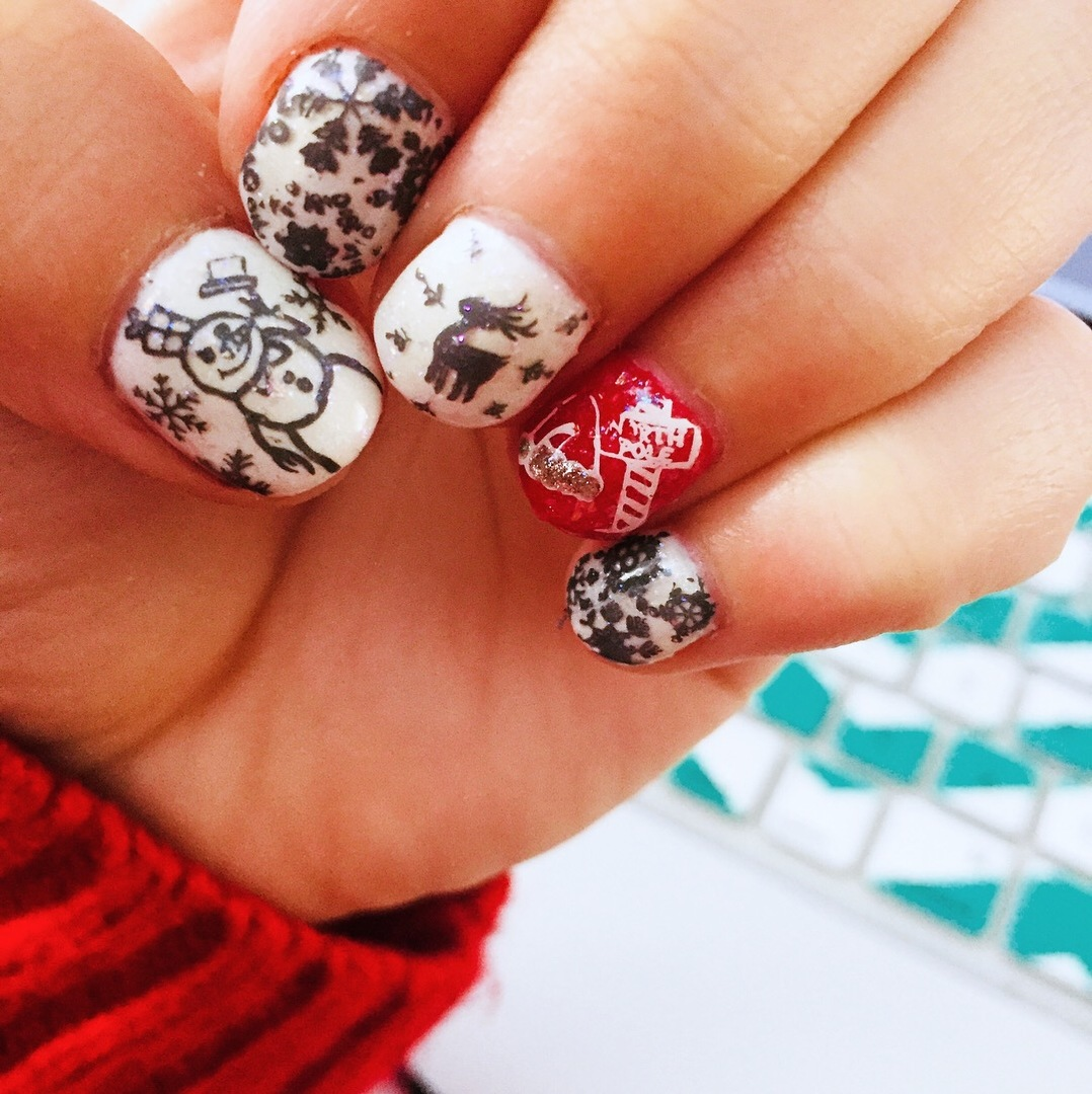 Christmas Themed Nail Art Stamping Plates Occasions Collection Bm