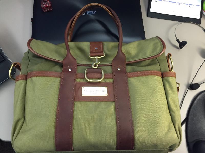 8deb8a1c2fa75 Sword   Plough Green Signature Messenger Bag
