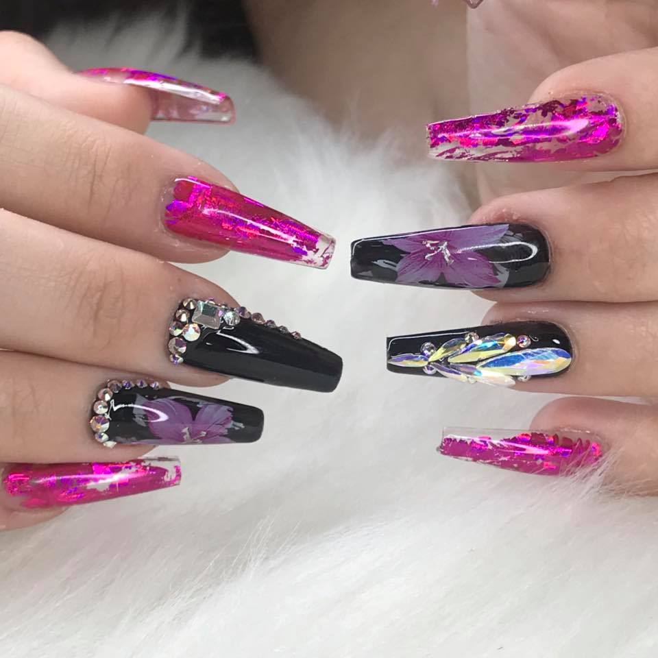 Colors Nail Art Stickers Tips Wraps Transfer Foil Zurno Of Beauty