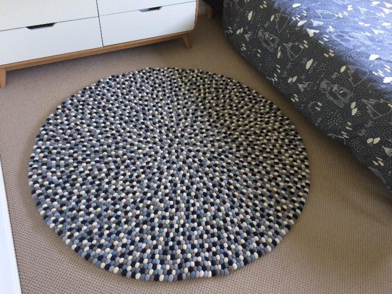 Custom Designed Round Felt Ball Rug