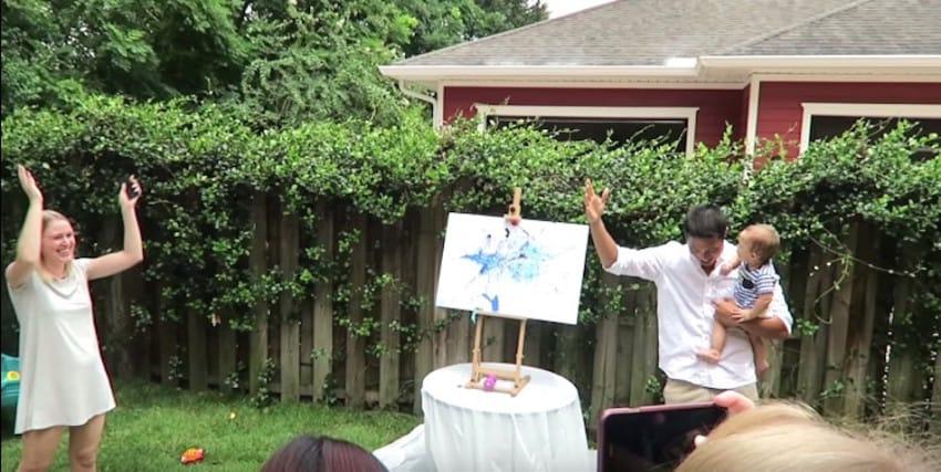 Proloso Gender Reveal Exploding Balloon Set Pink Blue Powder Per