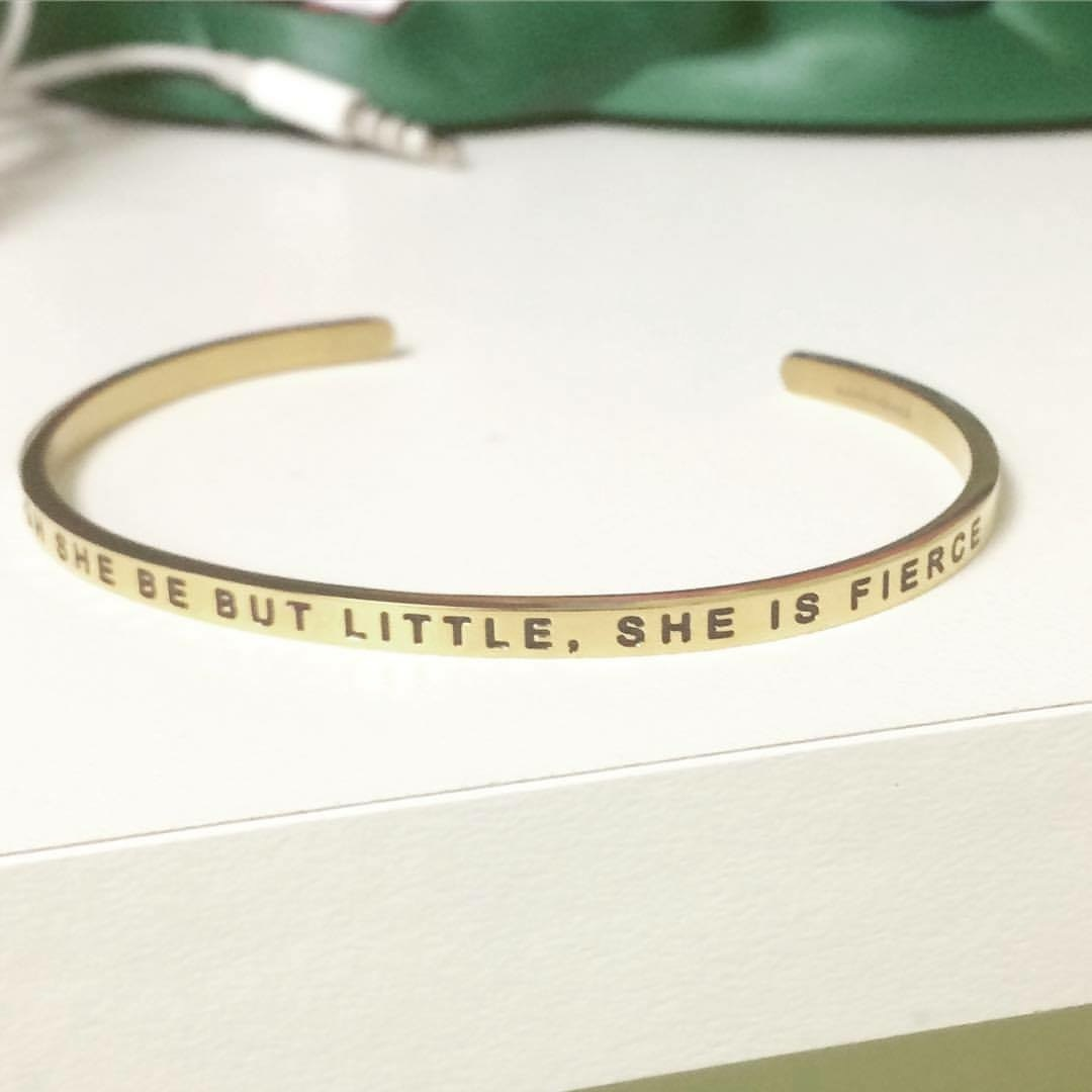 Though She Be But Little She Is Fierce Bracelet From Mantraband
