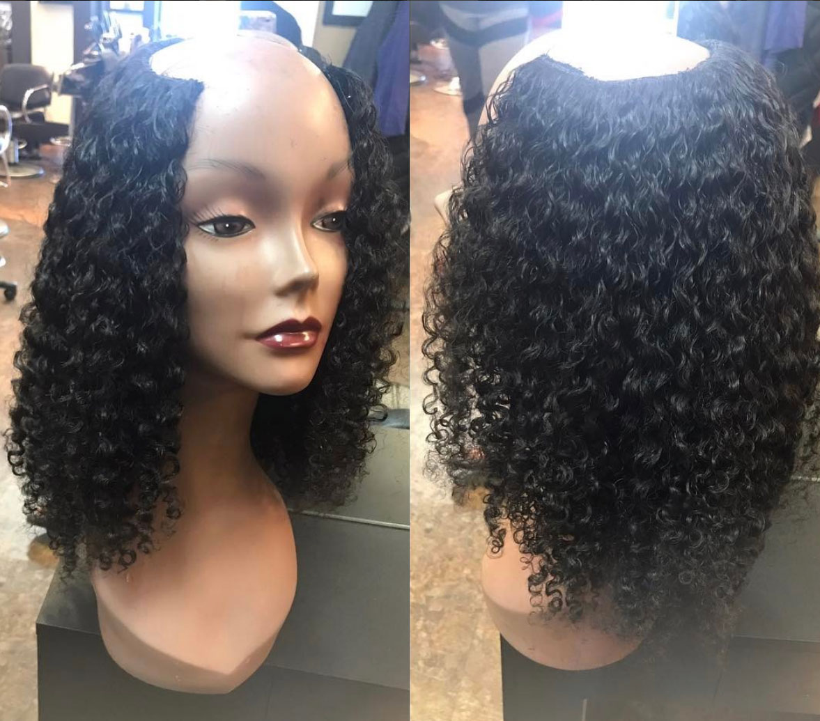 Kinky Curly Steam Permed Indian Hair Weave Perfect Locks