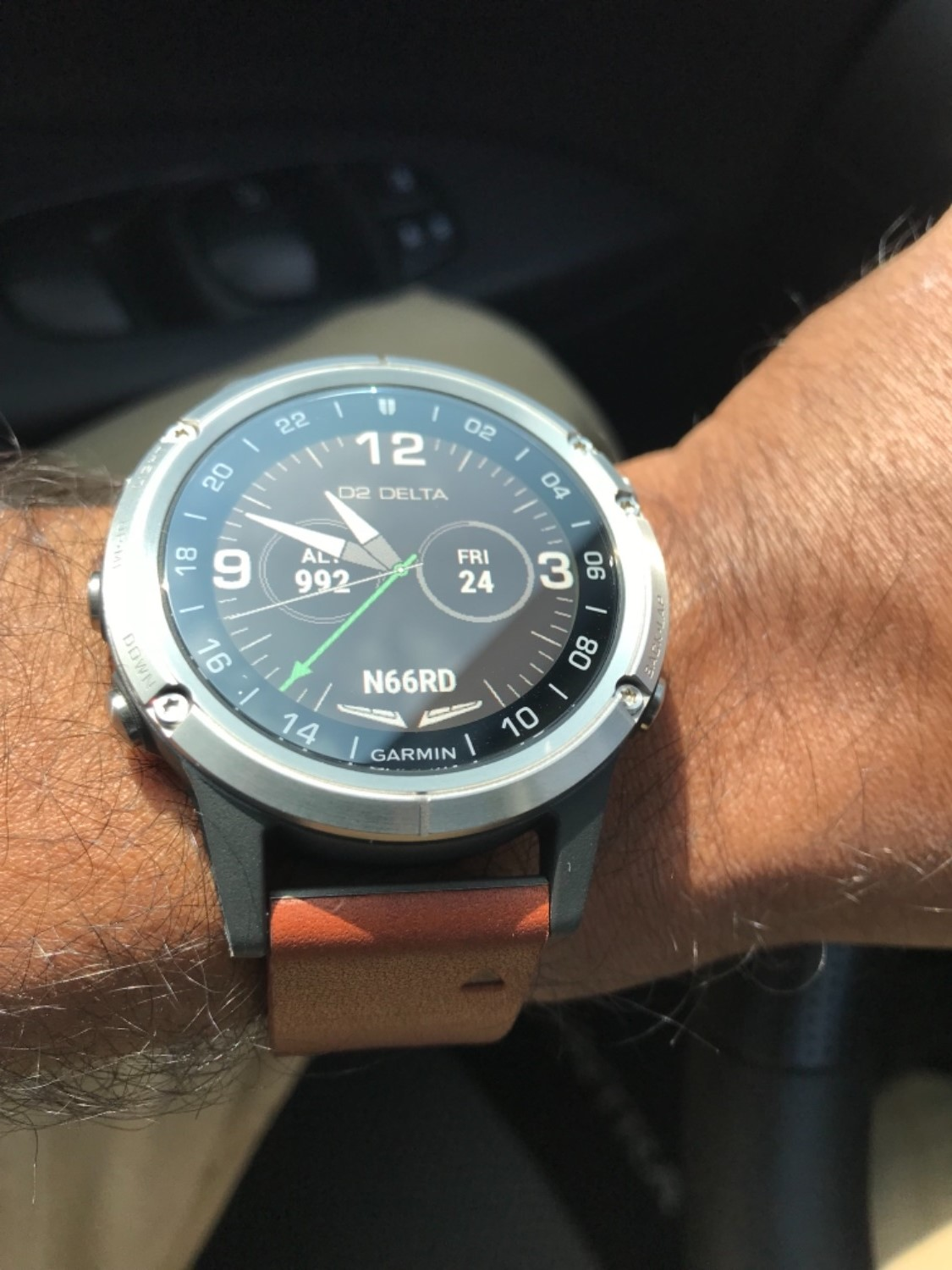 292b02c2086 ... Krishna B. verified customer review of Garmin D2 Delta Aviator Watch  with Brown Leather Band