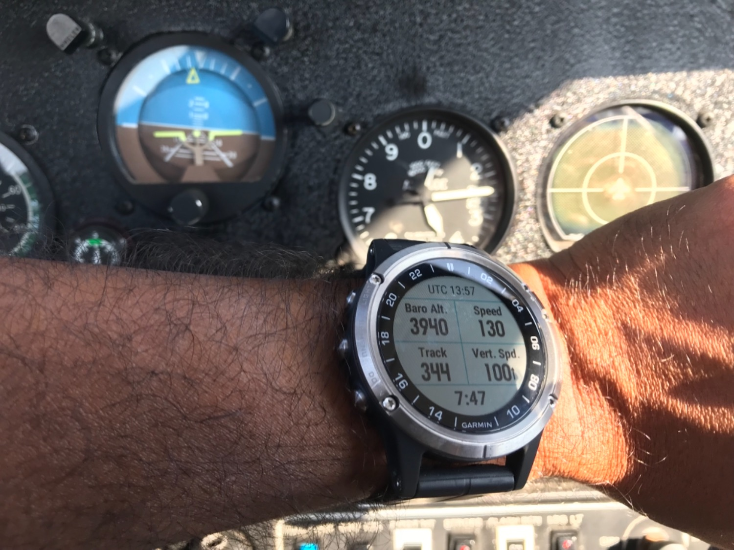 d4923463c0d Krishna B. verified customer review of Garmin D2 Delta Aviator Watch with  Brown Leather Band ...