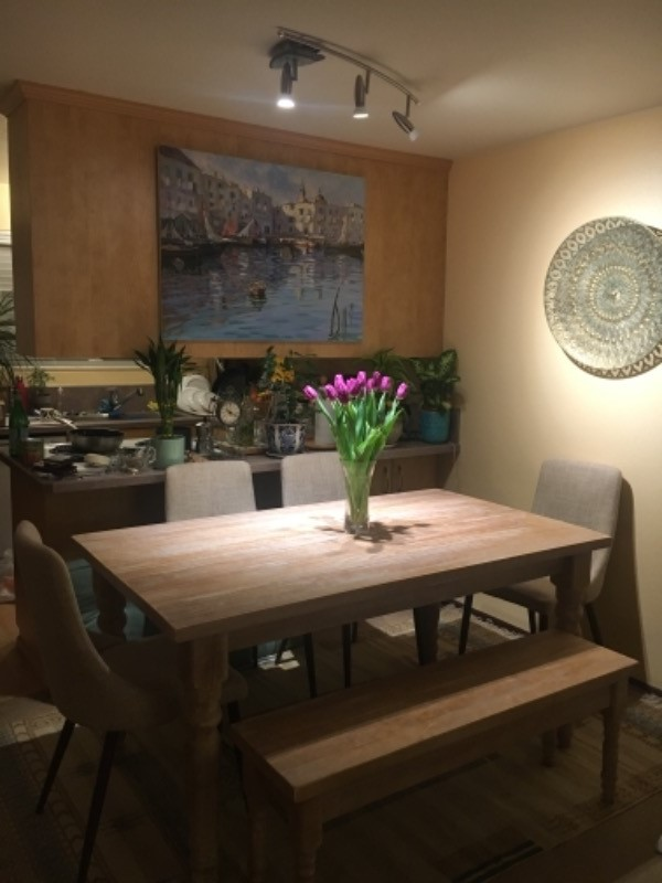7ba714db587d We were thrilled to find a real wood table that doesn't cost a fortune . We  adored the color of the finish ( driftwood) we picked but where honestly ...