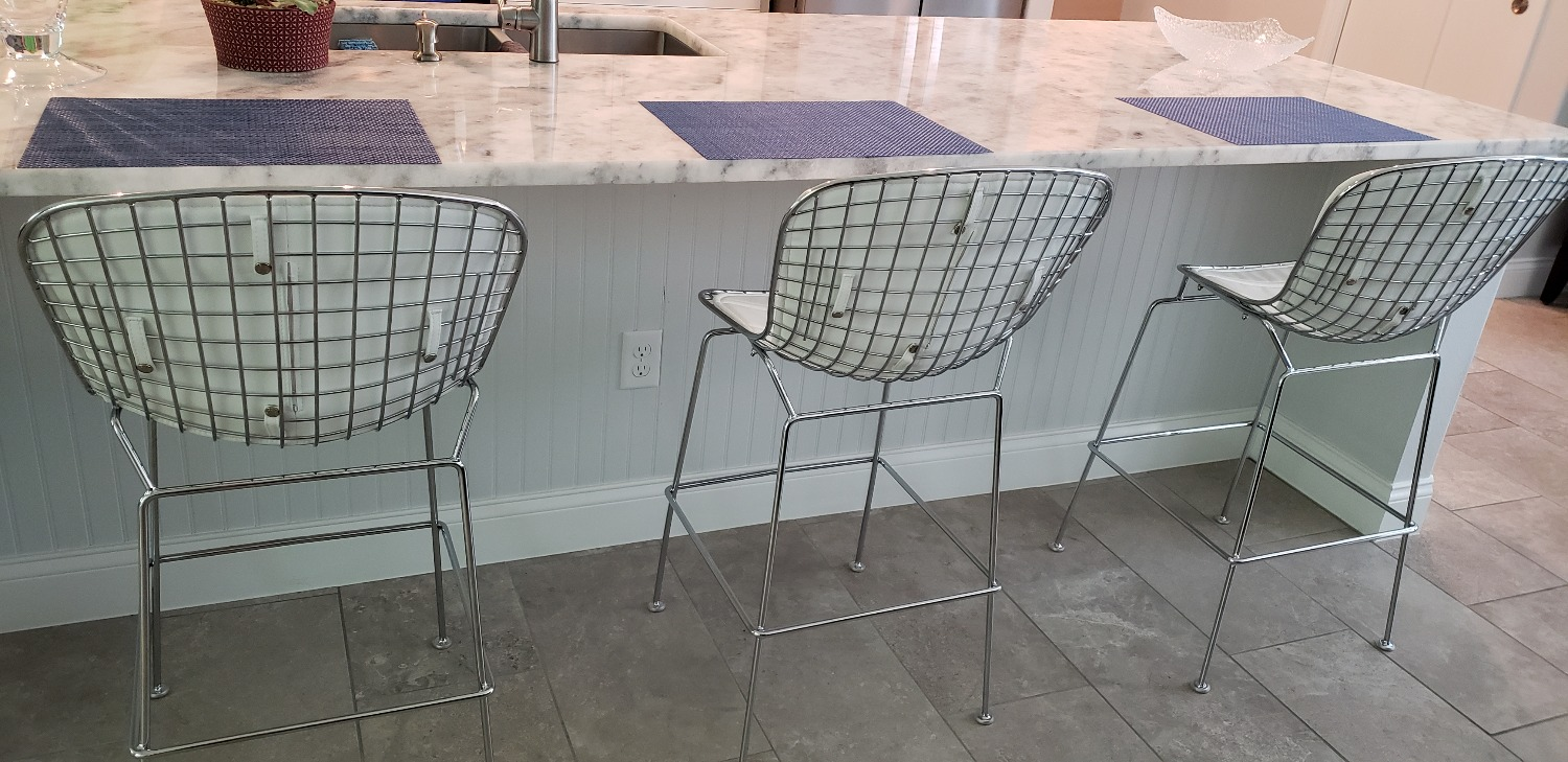Morph Bertoia Style Wire Counter Height Chair Poly Amp Bark