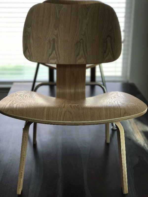 Eames Style Molded Plywood LCW Lounge Chair