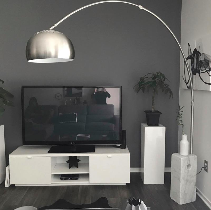 Arco Style SoHo Lamp Cube Marble Base – Poly & Bark
