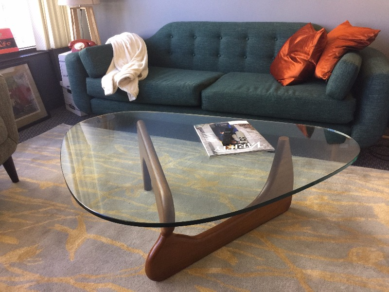 isamu noguchi style coffee table – poly + bark