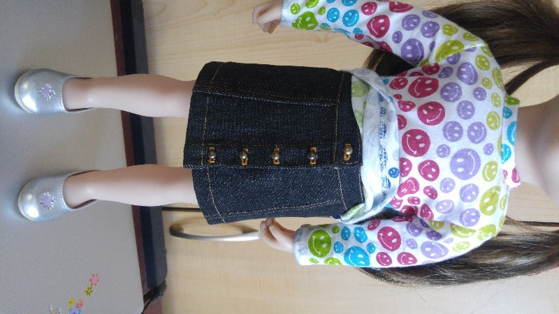 Button Front Mini Skirt 18