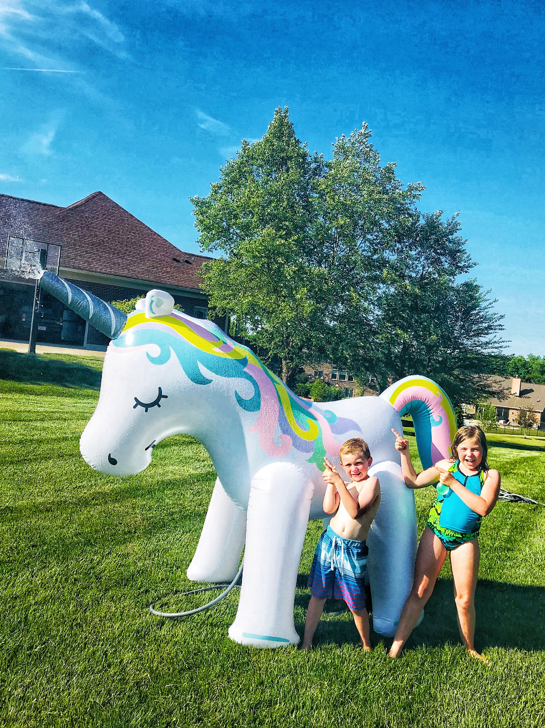 Giant Elephant Yard Sprinkler in Summer Outdoor Water Toys
