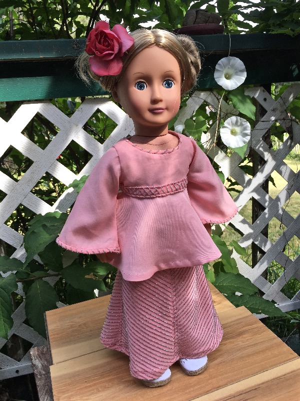 "Mitered Maxi Skirt 18"" Doll Clothes"