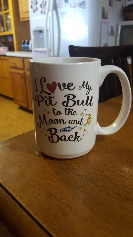 I Love My Pit Bull to the Moon and Back - Mug