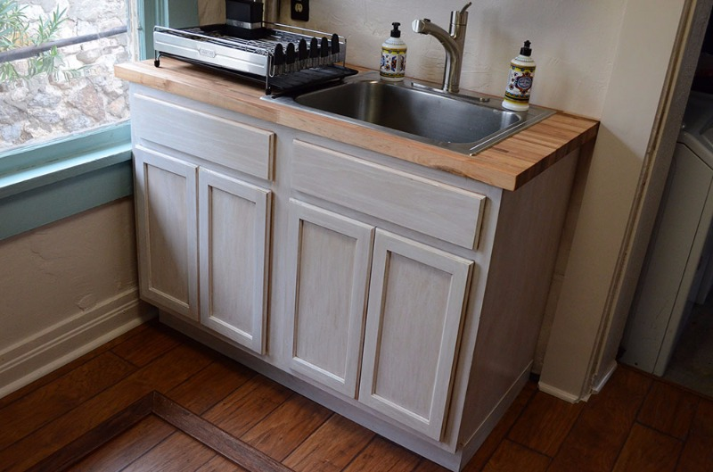 kitchen sink base | unfinished oak | 48"