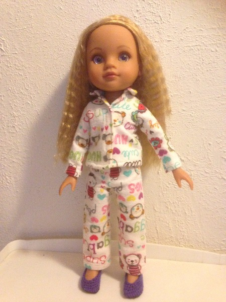 Heartwarming Pajamas for Les Cheries and Hearts For Hearts Dolls