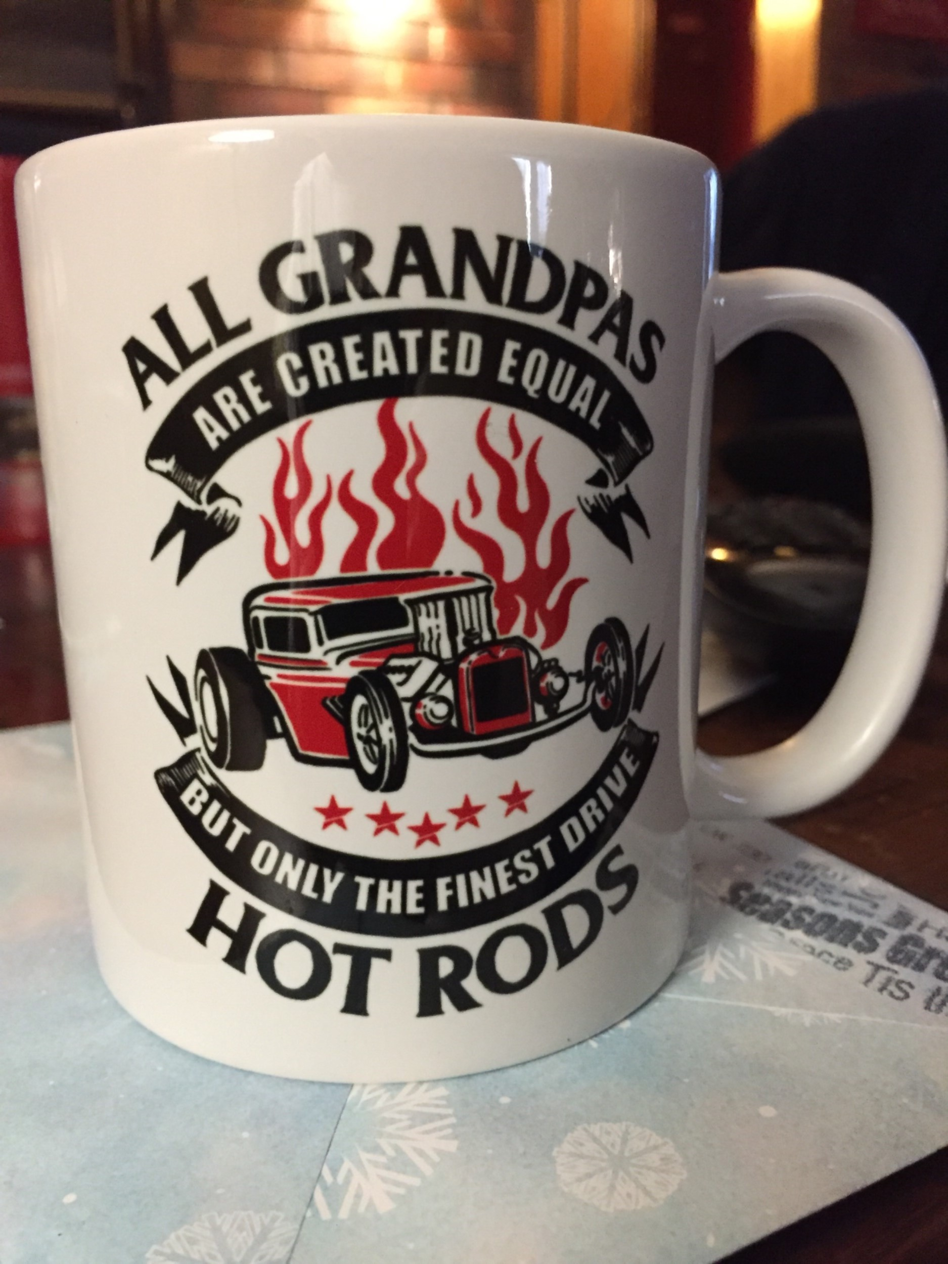 Only the Finest Grandpas Drive Hot Rods - Mug