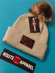 Brittany S. verified customer review of Maryland Flag Leather Patch (Grey w/ Fur Pom) / Slouchy Knit Beanie Cap
