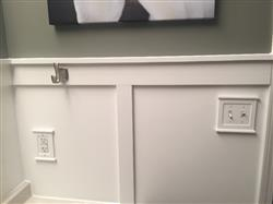 Amy E. verified customer review of Mantel White Wood - 1 Duplex Outlet Wallplate