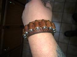 Fabian M. verified customer review of Six Shooter Genuine Leather Bracelet