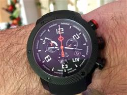 David H. verified customer review of GX1 Swiss Chrono Gray IP Case | Black Dial & Gray Numbers 1240.45.11