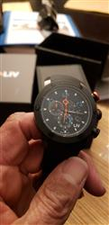 Forrest W. verified customer review of LIV GX1 Caliber 18 Swiss Chronograph Black & Blue Numbers Rubber 1210.45.119