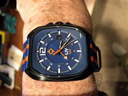 Charles T. verified customer review of Rebel-GMT 24 Hours / GMT + Dual Time | Black IP Case | Blue Dial
