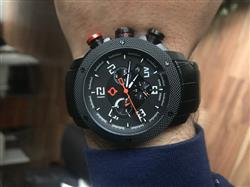 Mohamed N. verified customer review of GX1 Swiss Chrono Gray IP Case | Black Dial & Gray Numbers 1240.45.11