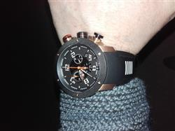Huw G. verified customer review of GX1 Swiss Chrono Gray IP Case | Black Dial & Gray Numbers 1240.45.11