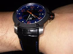 GX1-A Swiss Automatic Steel Case | Blue Dial & Orange Numbers 1120.42.41