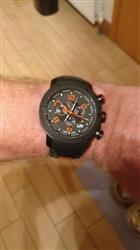 GX1 Swiss Chrono Gray & Black IP Case | Black & Orange Number Dial 1230.45.10