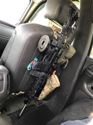 Rifle Mount Clamp for Rigid MOLLE Panel - Vehicle Rifle Rack