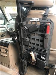 Anonymous verified customer review of Rifle Mount Clamp for Rigid MOLLE Panel - Vehicle Rifle Rack