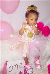 Tamekia S. verified customer review of Pink and gold Deluxe Minnie Mouse Birthday Outfit