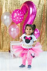 Eliana C. verified customer review of Pink and gold Minnie mouse birthday outfit 3 piece