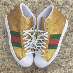 White Luxury Leather Laces - Gold Plated