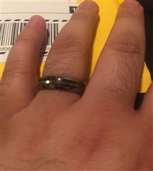 Robert D. verified customer review of Tungsten Carbide Ring with Abalone Shell & Koa Wood Inlay (without center strip) - 6mm, Dome Shape, Comfort Fitment