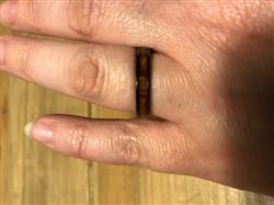 carrie l. verified customer review of HI-TECH Black Ceramic Assorted Ring Set with Hawaiian Koa Wood Inlay - 4&8mm, Dome Shape, Comfort Fitment