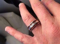 steven m. verified customer review of Sterling Silver Hand Engraved Hawaiian Jewelry Ring with Duo Hawaiian Koa Wood Inlay