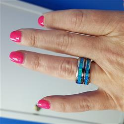 valerie c. verified customer review of Tungsten Carbide Ring with Blue Opal Inlay - 6mm, Dome Shape, Comfort Fitment