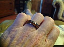 Douglas B. verified customer review of Tungsten Carbide 7mm Ring with Hawaiian Koa Wood Inlay