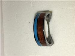 Nicole K. verified customer review of Tungsten Carbide Ring with Koa Wood & Turquoise Inlay