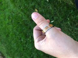 Amanda D. verified customer review of Tungsten Carbide Ring with Koa Wood Inlay - 8mm, Flat Shape, Comfort Fitment