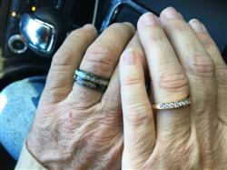 Kim R. verified customer review of Black Zirconium Ring Camo & Antler Duo Inlay - 8mm, Flat Shape, Comfort Fitment
